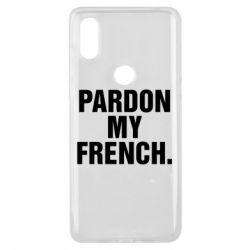 Чехол для Xiaomi Mi Mix 3 Pardon my french. - FatLine