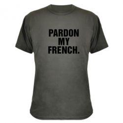 Камуфляжная футболка Pardon my french. - FatLine