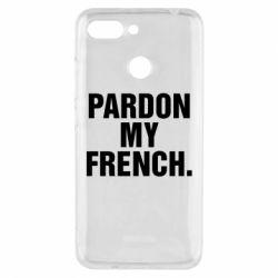 Чехол для Xiaomi Redmi 6 Pardon my french. - FatLine