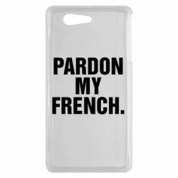 Чехол для Sony Xperia Z3 mini Pardon my french. - FatLine