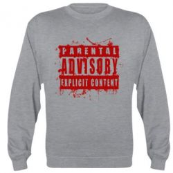 Реглан (свитшот) Parental Advisory Blood - FatLine