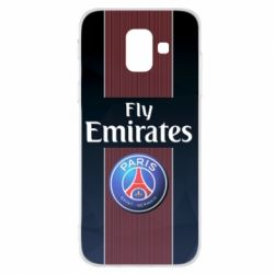 Купить ПСЖ (PSG), Чехол для Samsung A6 2018 Paris Saint Germain, FatLine