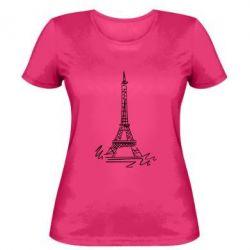 Женская футболка Paris - FatLine