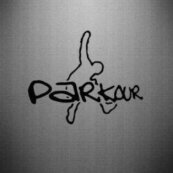 Наклейка Parkour jump