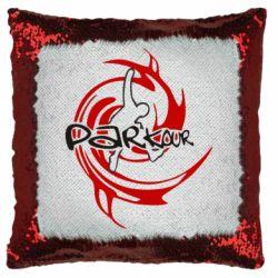 Подушка-хамелеон Parkour Logo