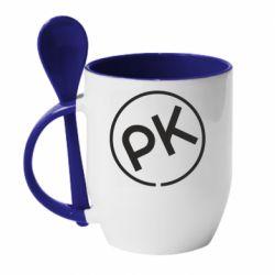 Кружка з керамічною ложкою Paul Kalkbrenner
