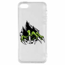 Чохол для iphone 5/5S/SE Paw with claws tearing fabric