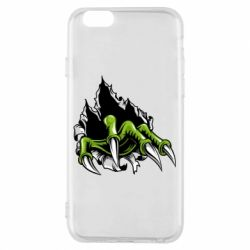Чохол для iPhone 6/6S Paw with claws tearing fabric