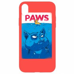 Чехол для iPhone XR Paws and cat