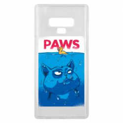 Чехол для Samsung Note 9 Paws and cat