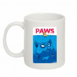 Кружка 320ml Paws and cat