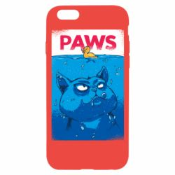 Чехол для iPhone 6/6S Paws and cat