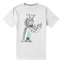 Мужская стрейчевая футболка Peace among worlds
