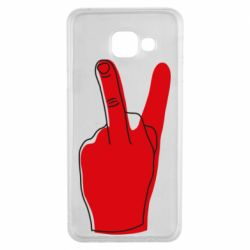 Чехол для Samsung A3 2016 Peace and middle finger