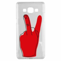 Чехол для Samsung A5 2015 Peace and middle finger