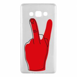 Чехол для Samsung A7 2015 Peace and middle finger