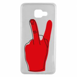 Чехол для Samsung A7 2016 Peace and middle finger