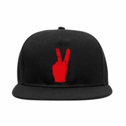 Снепбек Peace and middle finger