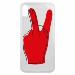 Чехол для iPhone Xs Max Peace and middle finger