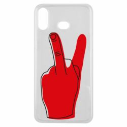 Чехол для Samsung A6s Peace and middle finger