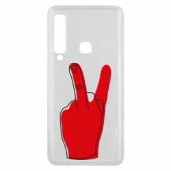 Чехол для Samsung A9 2018 Peace and middle finger