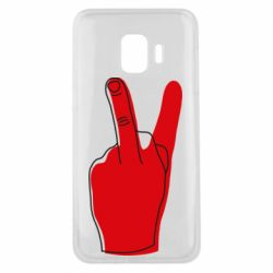 Чехол для Samsung J2 Core Peace and middle finger