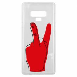 Чехол для Samsung Note 9 Peace and middle finger
