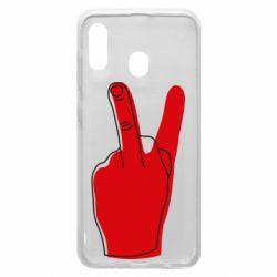 Чехол для Samsung A20 Peace and middle finger