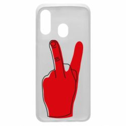 Чехол для Samsung A40 Peace and middle finger