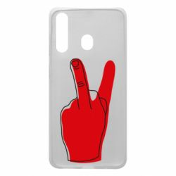Чехол для Samsung A60 Peace and middle finger