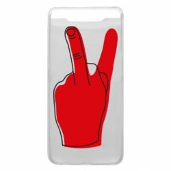 Чехол для Samsung A80 Peace and middle finger