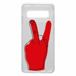 Чехол для Samsung S10 Peace and middle finger