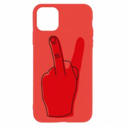 Чехол для iPhone 11 Peace and middle finger