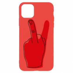 Чехол для iPhone 11 Pro Max Peace and middle finger