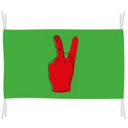 Флаг Peace and middle finger