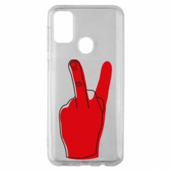 Чехол для Samsung M30s Peace and middle finger