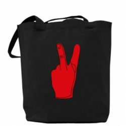 Сумка Peace and middle finger
