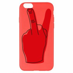 Чехол для iPhone 6 Plus/6S Plus Peace and middle finger