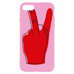 Чехол для iPhone 7 Peace and middle finger