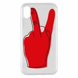 Чехол для iPhone X/Xs Peace and middle finger