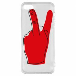 Чехол для iPhone5/5S/SE Peace and middle finger