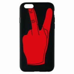 Чехол для iPhone 6/6S Peace and middle finger