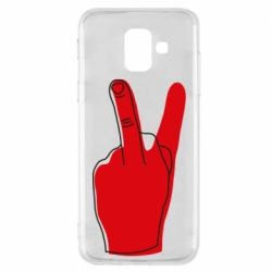 Чехол для Samsung A6 2018 Peace and middle finger
