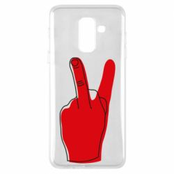 Чехол для Samsung A6+ 2018 Peace and middle finger
