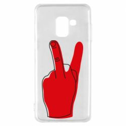 Чехол для Samsung A8 2018 Peace and middle finger