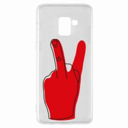 Чехол для Samsung A8+ 2018 Peace and middle finger