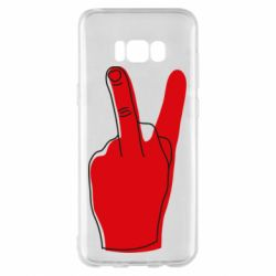 Чехол для Samsung S8+ Peace and middle finger
