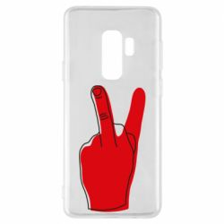 Чехол для Samsung S9+ Peace and middle finger