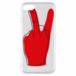Чехол для iPhone 8 Peace and middle finger