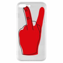 Чехол для iPhone 8 Plus Peace and middle finger